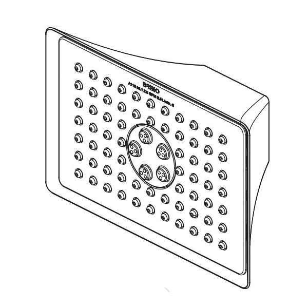 Brizo® RP48041PC-2.5 Multi-Function Showerhead, RSVP®, 2.5 gpm Minimum, 2 Sprays, 5-7/8x3-7/8 in Head, Import
