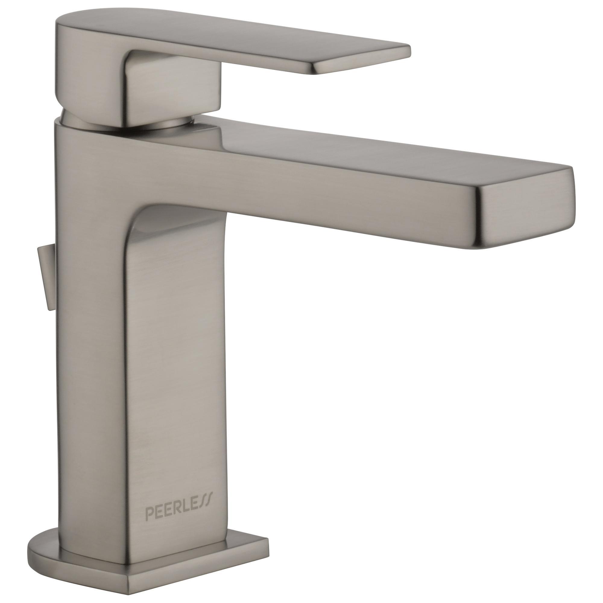 Peerless® P1519LF-BN Bathroom Faucet, Xander™, Brushed Nickel, 1 Handles, 50/50 Pop-Up Drain, 1 gpm