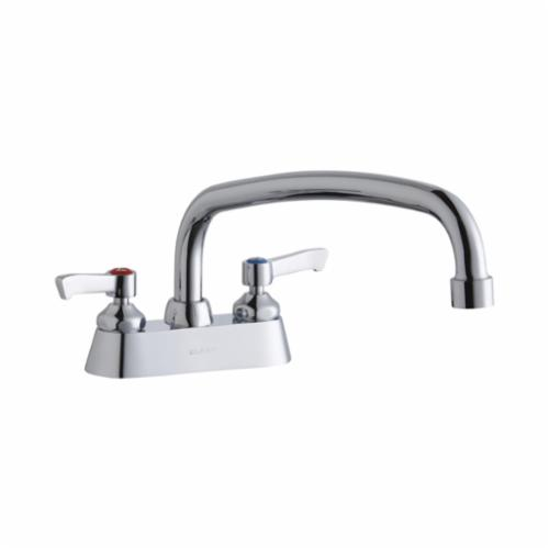 Elkay® LK406AT12L2 Centerset Bathroom Faucet, Chrome Plated, 2 Handles, 1.5 gpm