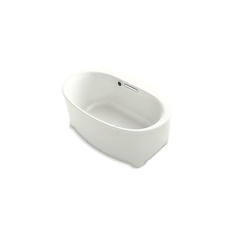 Kohler® 5701-W1-NY Underscore® Bathtub, Soaking Hydrotherapy, Oval, 60 in L x 36 in W, Center Drain, Dune, Domestic
