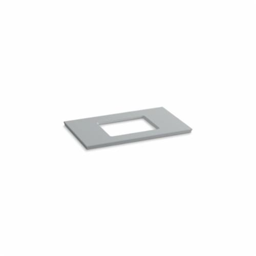 Kohler® 5457-S36 Solid/Expressions™ Vanity Top With Single Verticyl® Rectangular Cutout, 22-13/16 in OAWx22-13/16 in OADx1-1/4 in OAH, Stone Ice Gray Top