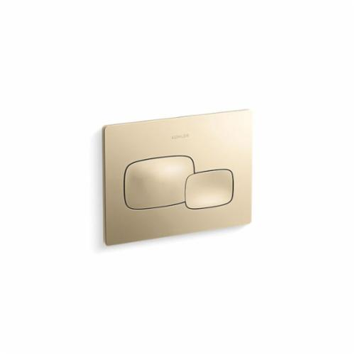 Kohler® 5413-AF Cue™ Dual Flush Actuator Plate, For Use With Model K-18829-NA 2x4 in Wall Tank and Carrier System, Vibrant® French Gold