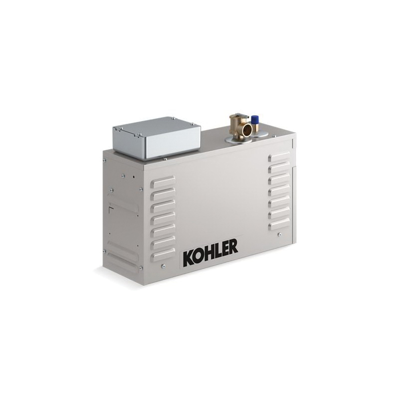 Kohler® 5531-NA Invigoration™ Steam Generator, 1/2 in NPT Steam Outlet, 3/8 in NPT Water Inlet, 240 VAC, 60 A