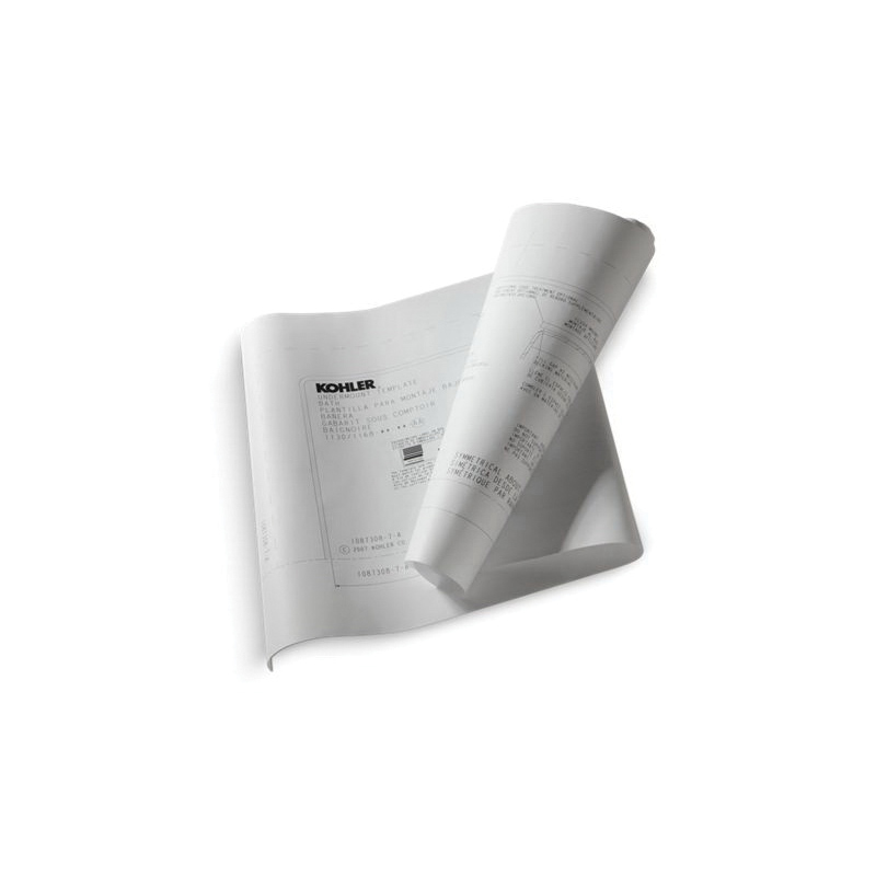 Kohler® 550-NA Under-Mount Install Kit, For Use With Underscore® K-1821 and K-1822 Baths, Whirlpools, BubbleMassage™ Air Baths and VibrAcoustic® Baths, Acrylic, Domestic