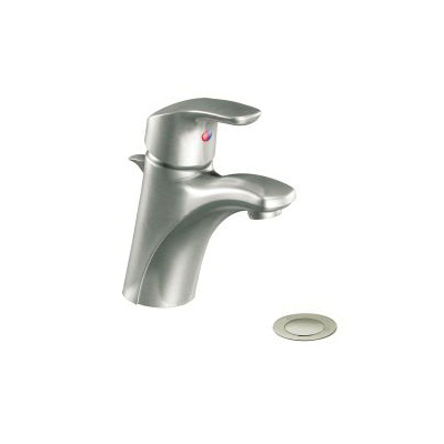 CFG CA42712BN Lavatory Faucet, Baystone™, Brushed Nickel, 1 Handles, Pop-Up Drain, 1.2 gpm