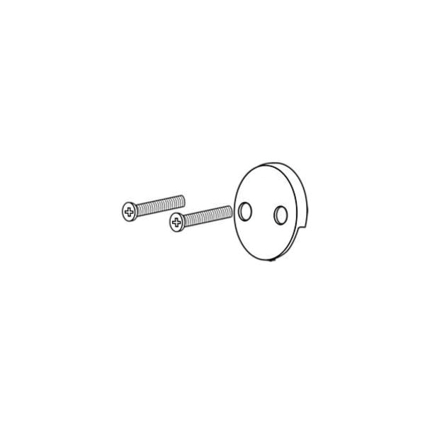 Brizo® RP31556BB Overflow Plate and Screw, For Use With RP293 Toe-Operated Bathtub Drain/RP393 Bath Waste Assembly, Domestic