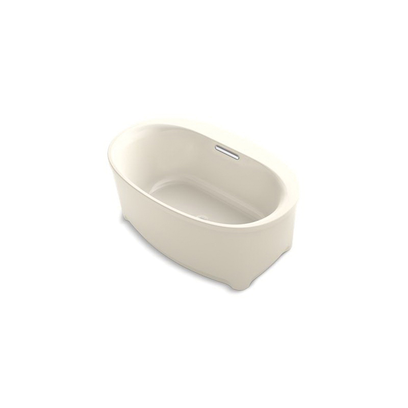 Kohler® 5701-47 Underscore® Bathtub, Soaking Hydrotherapy, Oval, 60 in L x 36 in W, Center Drain, Almond, Domestic
