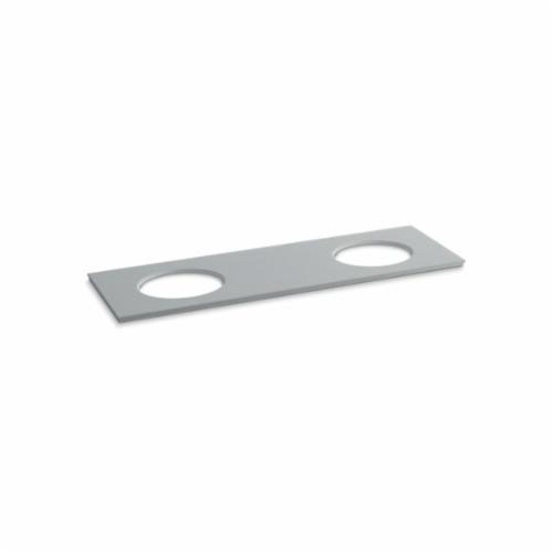 Kohler® 5434-S36 Solid/Expressions™ Vanity Top With Double Verticyl® Oval Cutout, 22-13/16 in OAWx22-13/16 in OADx1-1/4 in OAH, Stone Ice Gray Top