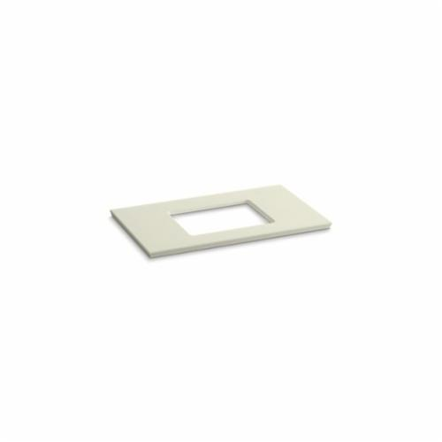 Kohler® 5457-S35 Solid/Expressions™ Vanity Top With Single Verticyl® Rectangular Cutout, 22-13/16 in OAWx22-13/16 in OADx1-1/4 in OAH, Stone Biscuit Top