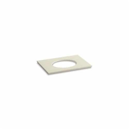 Kohler® 5422-S34 Solid/Expressions™ Vanity Top With Single Verticyl® Oval Cutout, 22-13/16 in OAWx22-13/16 in OADx1-1/4 in OAH, Stone Almond Top