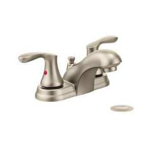 CFG 40225BN Lavatory Faucet, Cornerstone™, Brushed Nickel, 2 Handles, Pop-Up Drain, 1.2 gpm