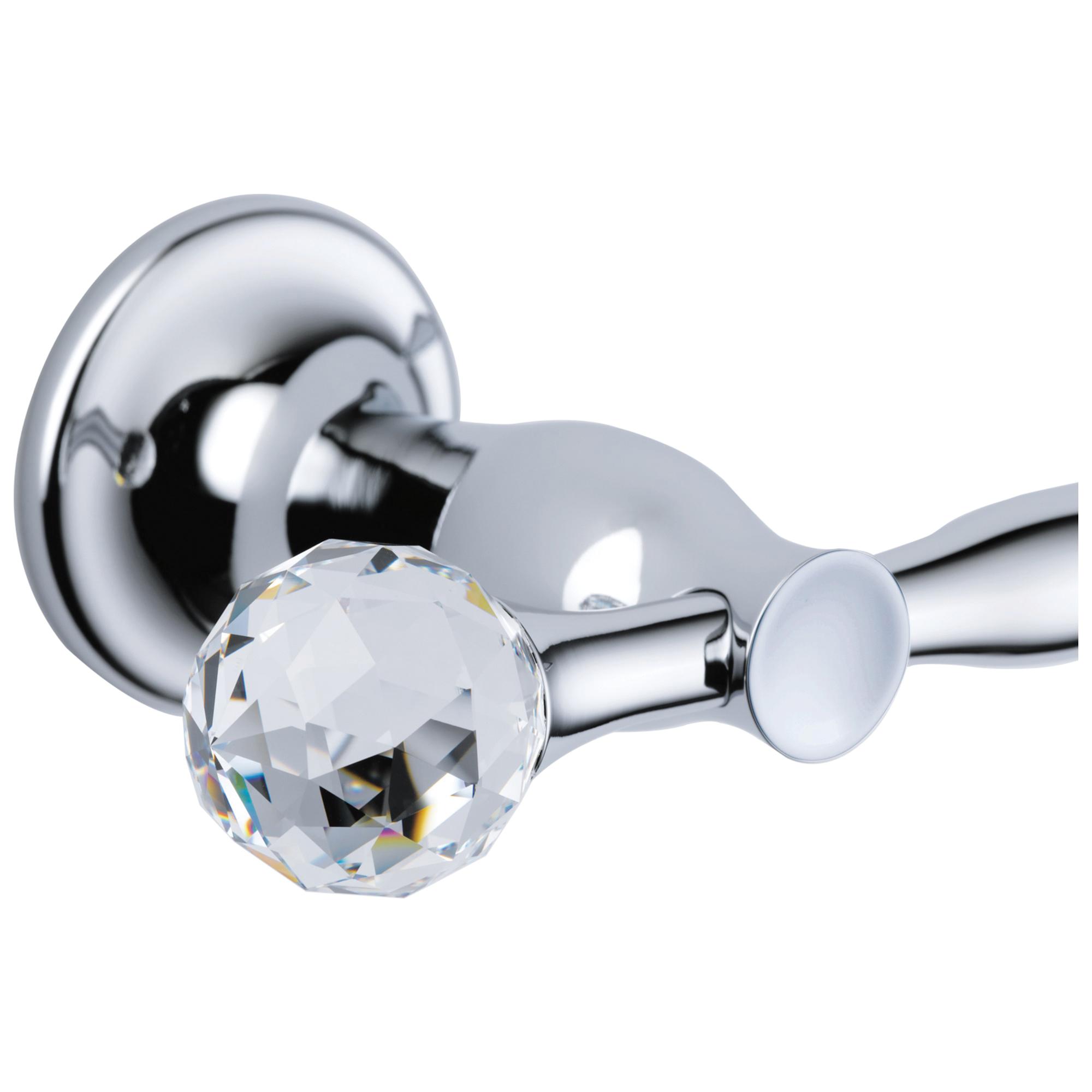 Brizo® RP48142PC Rsvp® Crystal Finial, Plastic, Polished Chrome, Import