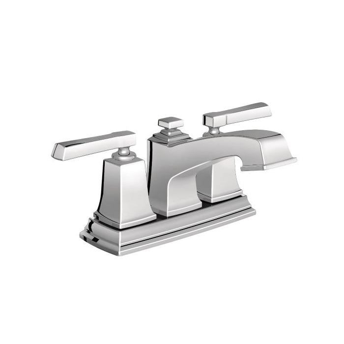 Moen® 6010 Centerset Bathroom Faucet, Boardwalk™, Chrome Plated, 2 Handles, Pop-Up Drain, 1.5 gpm