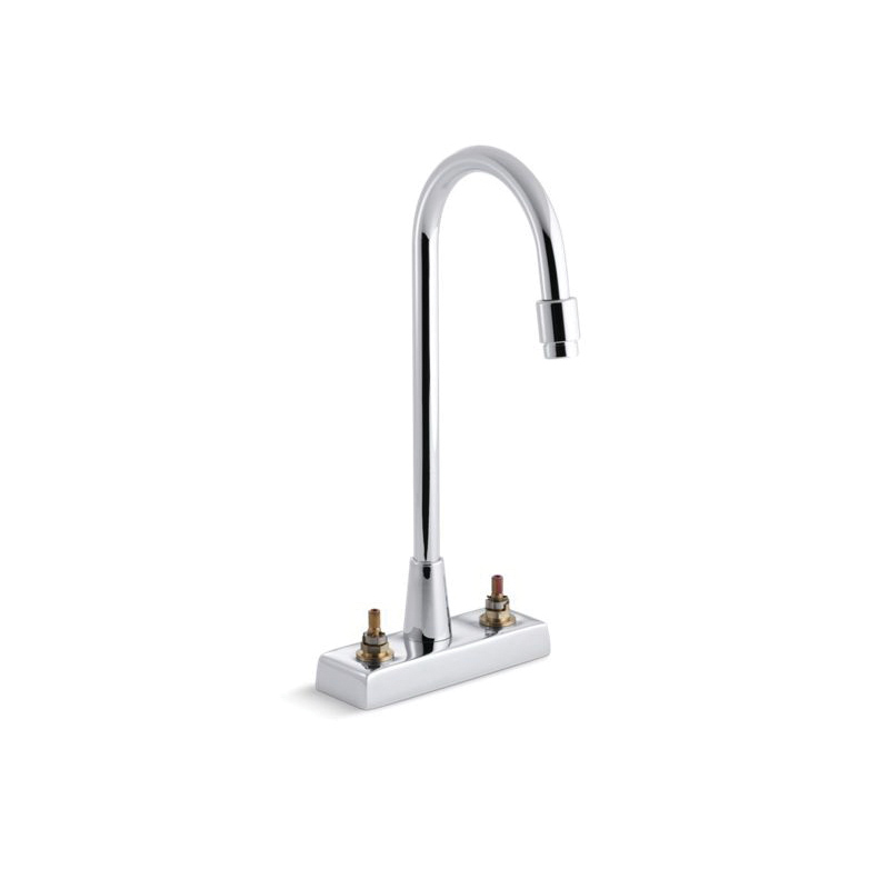 Kohler® 7305-KNE-CP Centerset Bathroom Sink Faucet, Triton™, Polished Chrome, 2 Handles, 0.5 gpm