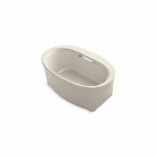 Kohler® 5702-GW-G9 Underscore® Bathtub, BubbleMassage™, Oval, 60 in L x 36 in W, Center Drain, Sandbar