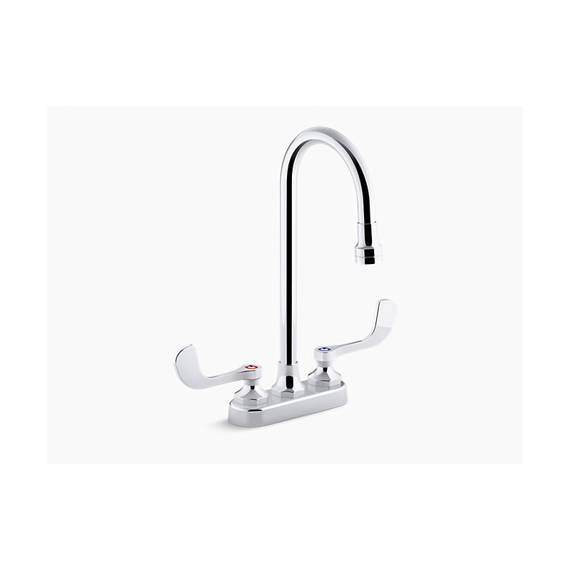 Kohler® K-400T70-5ANA-CP Centerset Bathroom Sink Faucet, Triton™ Bowe®, Polished Chrome, 2 Handles, 0.5 gpm