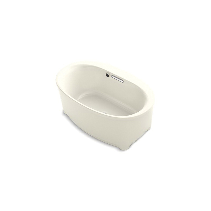 Kohler® 5701-W1-96 Underscore® Bathtub Without Jet, Soaking Hydrotherapy, Oval, 60 in L x 36 in W, Center Drain, Biscuit, Domestic