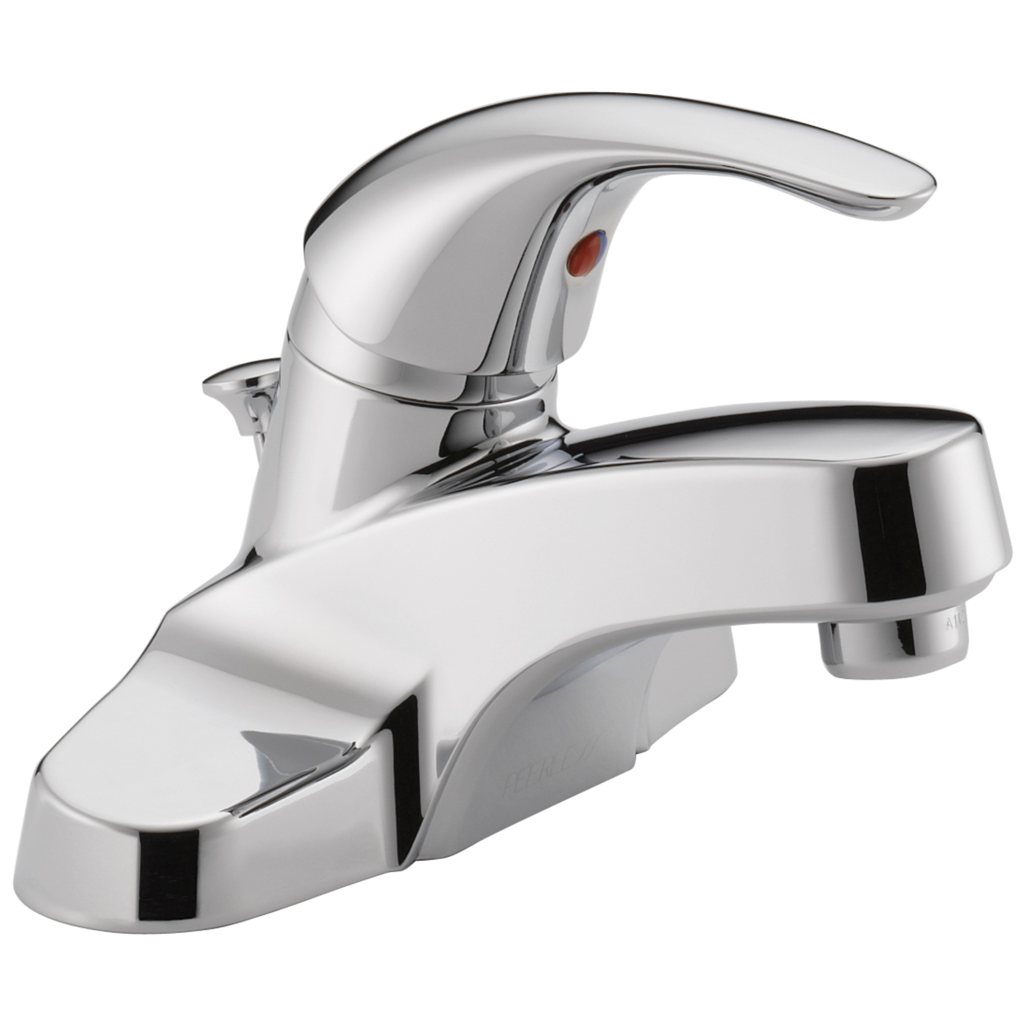 Peerless® P188620LF Centerset Lavatory Faucet, Chrome Plated, 1 Handles, Pop-Up Drain, 1.5 gpm