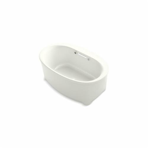 Kohler® 5702-GW-NY Underscore® Bathtub, BubbleMassage™, Oval, 60 in L x 36 in W, Center Drain, Dune