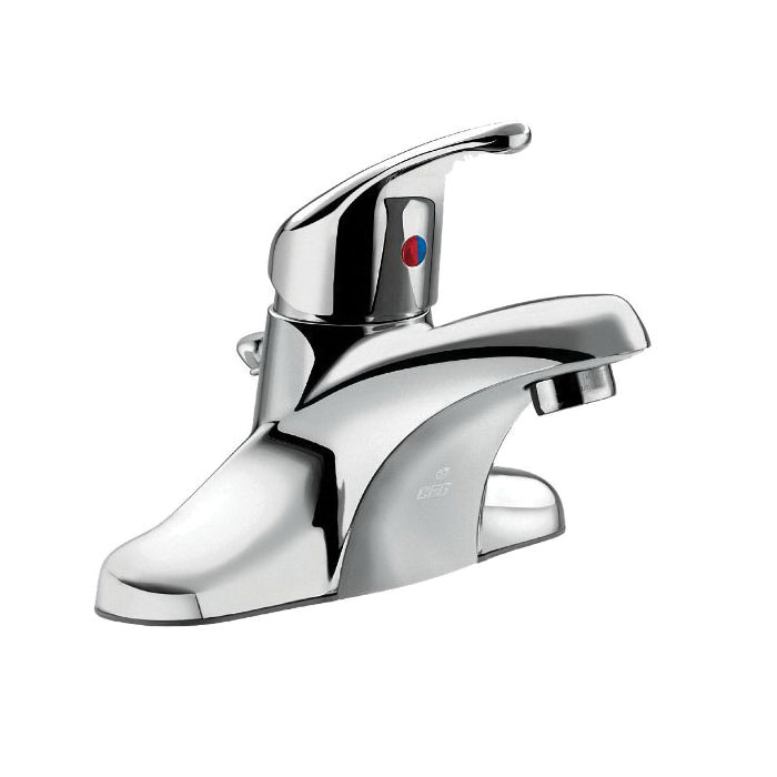 CFG CA40710 Centerset Bathroom Faucet, Cornerstone™, Chrome Plated, 1 Handles, Metal Pop-Up Drain, 1.2 gpm