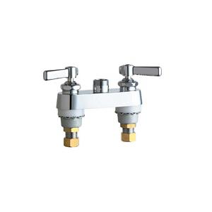 Chicago Faucet® 895-LESXKAB Lavatory Sink Faucet, Chrome Plated, 2 Handles
