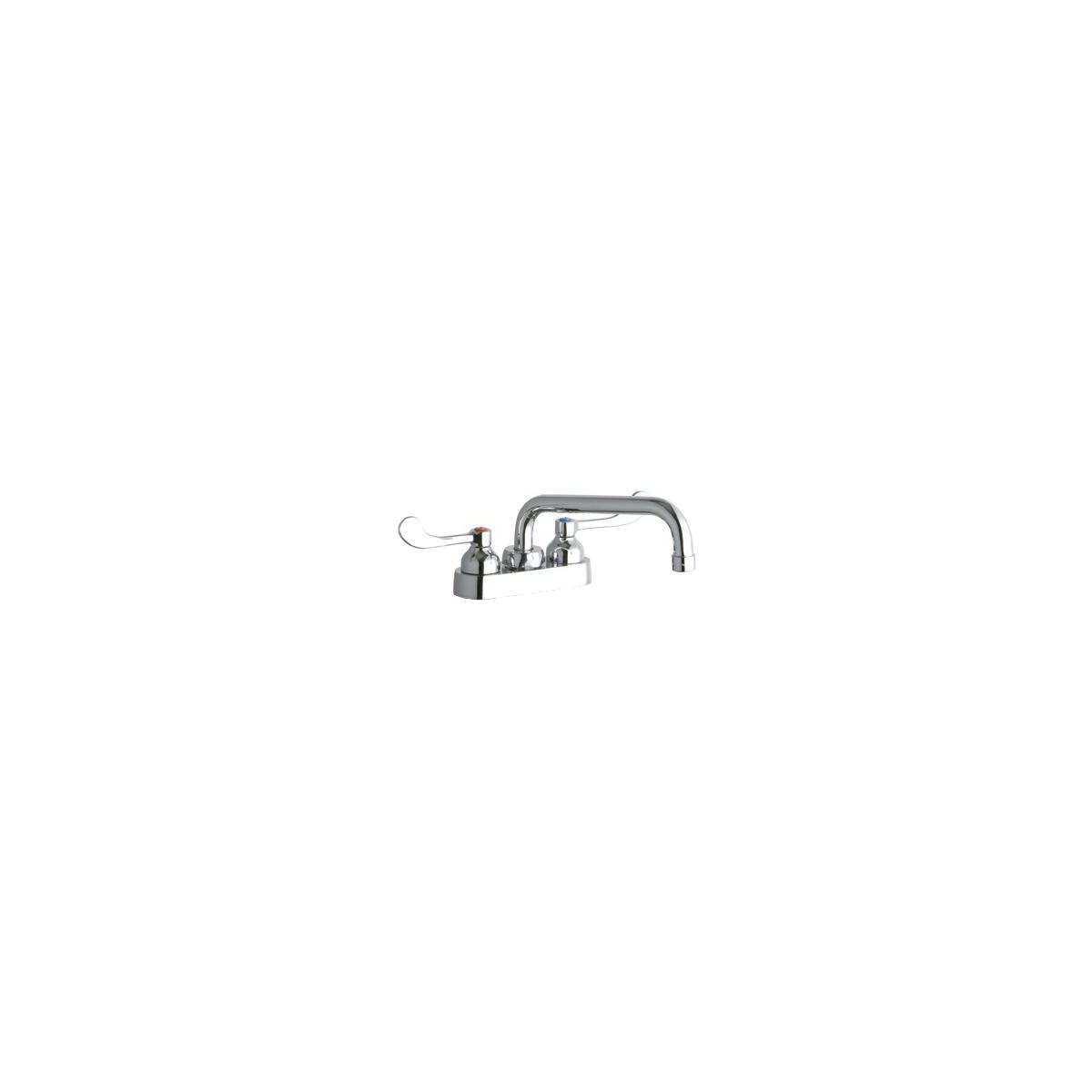 Elkay® LK406TS08T4 Centerset Bathroom Faucet, Chrome Plated, 2 Handles, 1.5 gpm