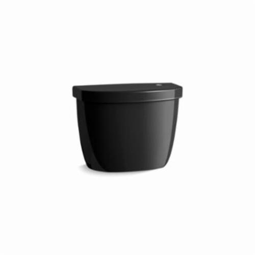 Kohler® 5692-7 Toilet Tank, Cimarron®, 1.28 gpf, 3 in Pushbutton Flush, Black