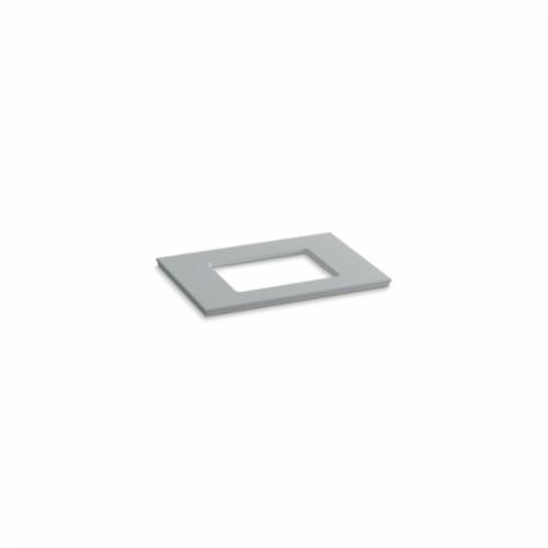 Kohler® 5456-S36 Solid/Expressions™ Vanity Top With Single Verticyl® Rectangular Cutout, 22-13/16 in OAWx22-13/16 in OADx1-1/4 in OAH, Stone Ice Gray Top
