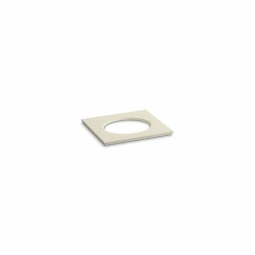Kohler® 5421-S34 Solid/Expressions™ Vanity Top With Single Verticyl® Oval Cutout, 22-13/16 in OAWx22-13/16 in OADx1-1/4 in OAH, Stone Almond Top