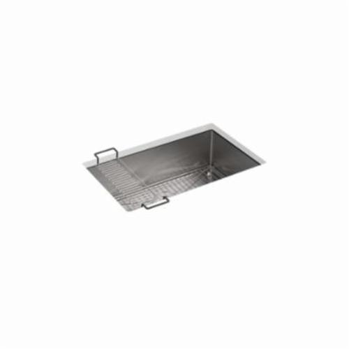 Kohler® 5409-NA Kitchen Sink, Strive™, Rectangular, 27-1/4 in Lx16-9/16 in Wx9 in D Bowl, 29 in Lx18-5/16 in Wx9-5/16 in H, Under Mount, 16 ga Stainless Steel