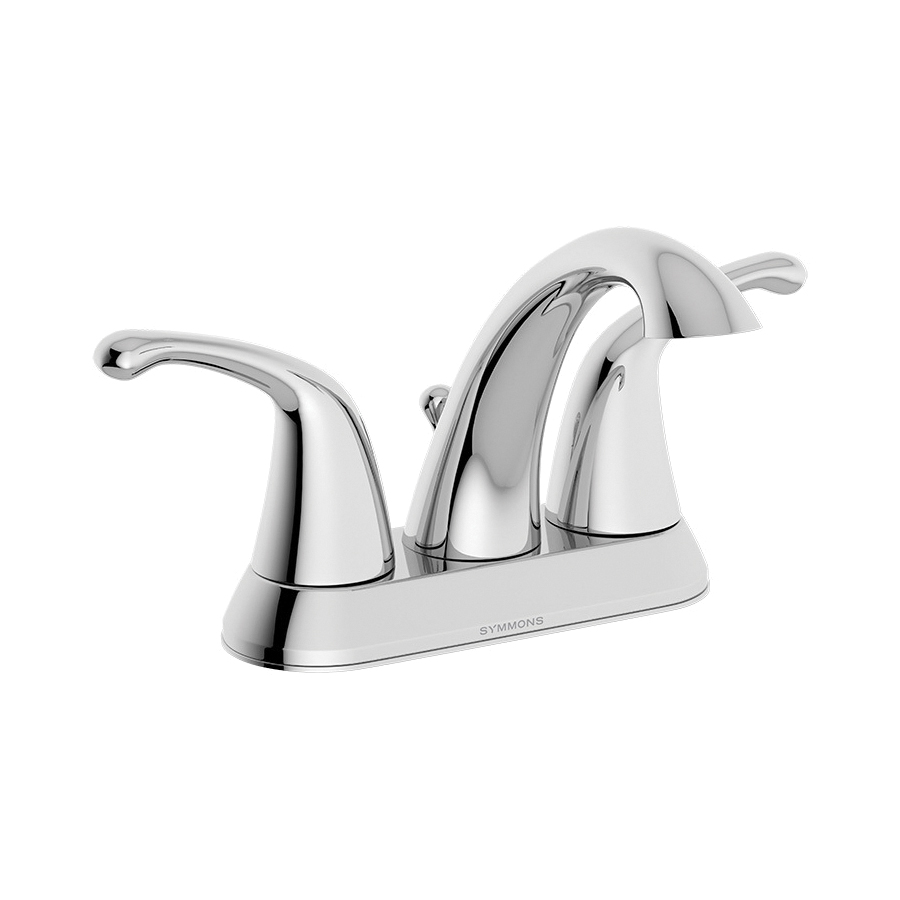 Symmons® SLC-6612-1.5 Transitional Centerset Lavatory Faucet, Unity™, Polished Chrome, 2 Handles, 50/50 Pop-Up Drain, 1.5 gpm