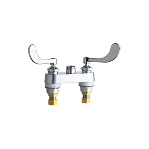 Chicago Faucet® 895-317LESAB Lavatory Sink Faucet, Chrome Plated, 2 Handles