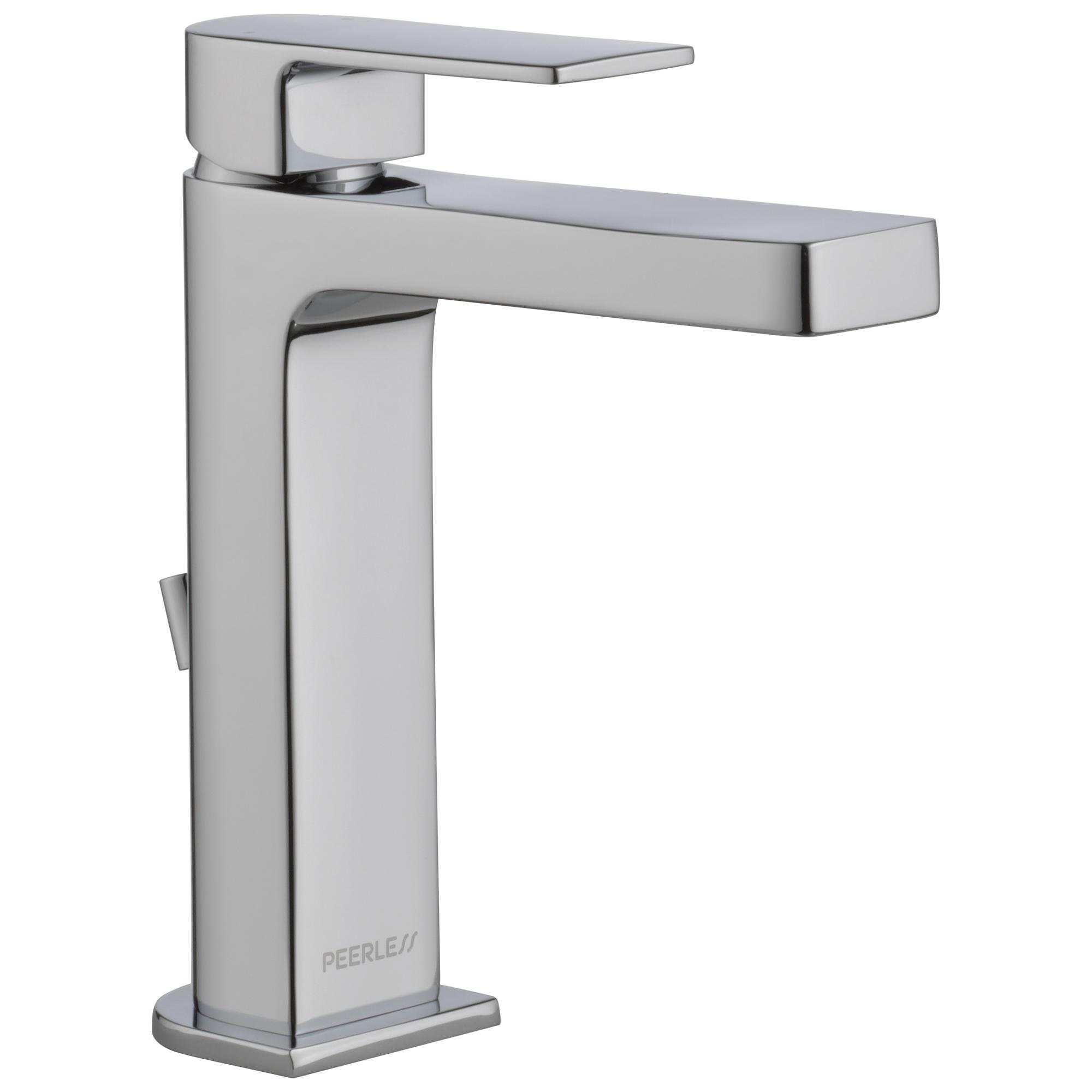 Peerless® P1519LF-HA Bathroom Faucet, Xander™, Chrome Plated, 1 Handles, 50/50 Pop-Up Drain, 1 gpm