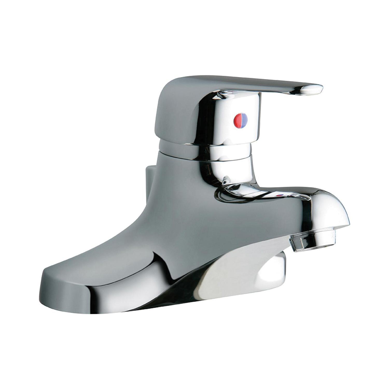 Elkay® LK423L4 Centerset Lavatory Faucet, Chrome Plated, 1 Handles, Pop-Up Drain, 0.5 gpm