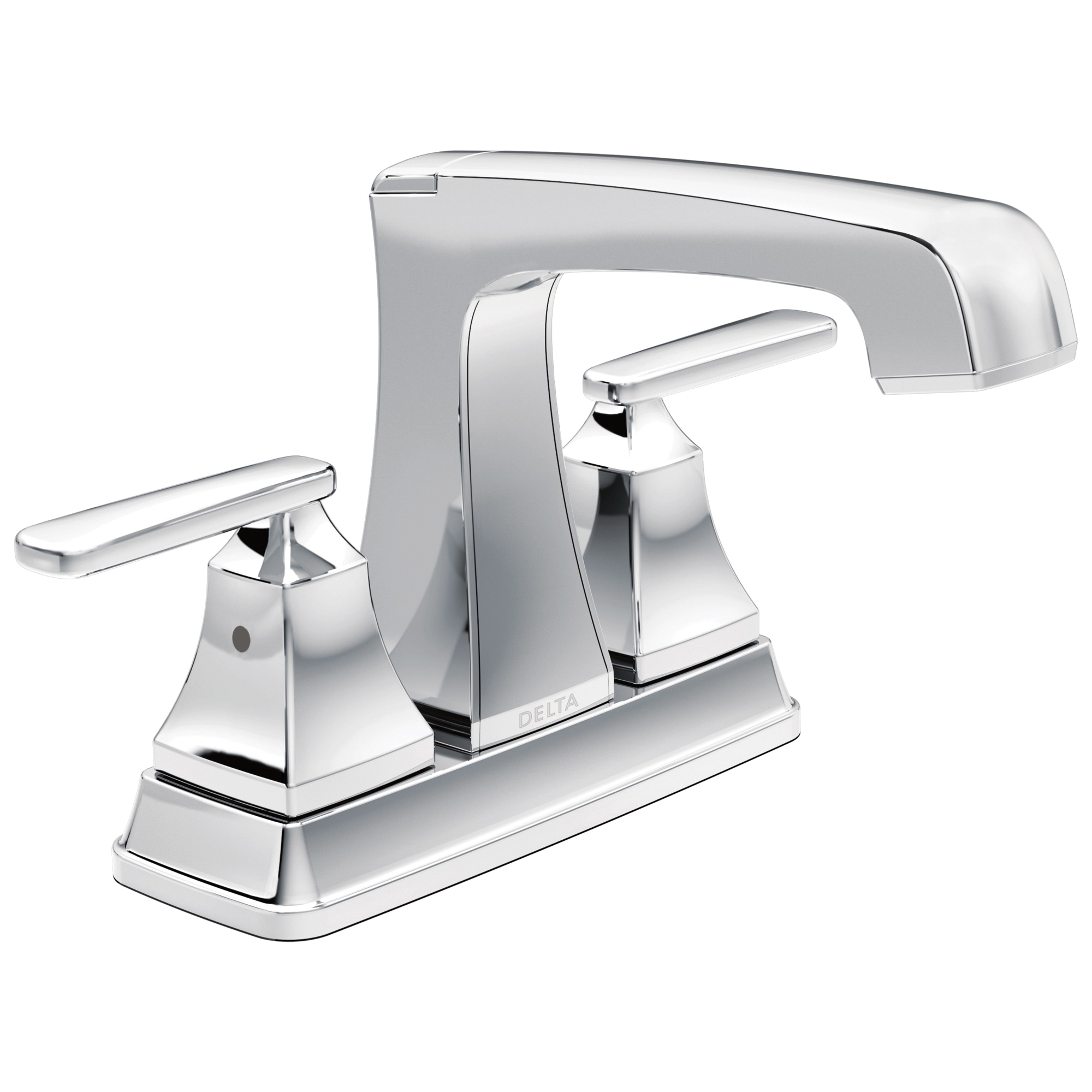DELTA® 2564-TP-DST Tract-Pack™ Centerset Lavatory Faucet, Ashlyn®, Chrome Plated, 2 Handles, 50/50 Pop-Up Drain, 1.2 gpm