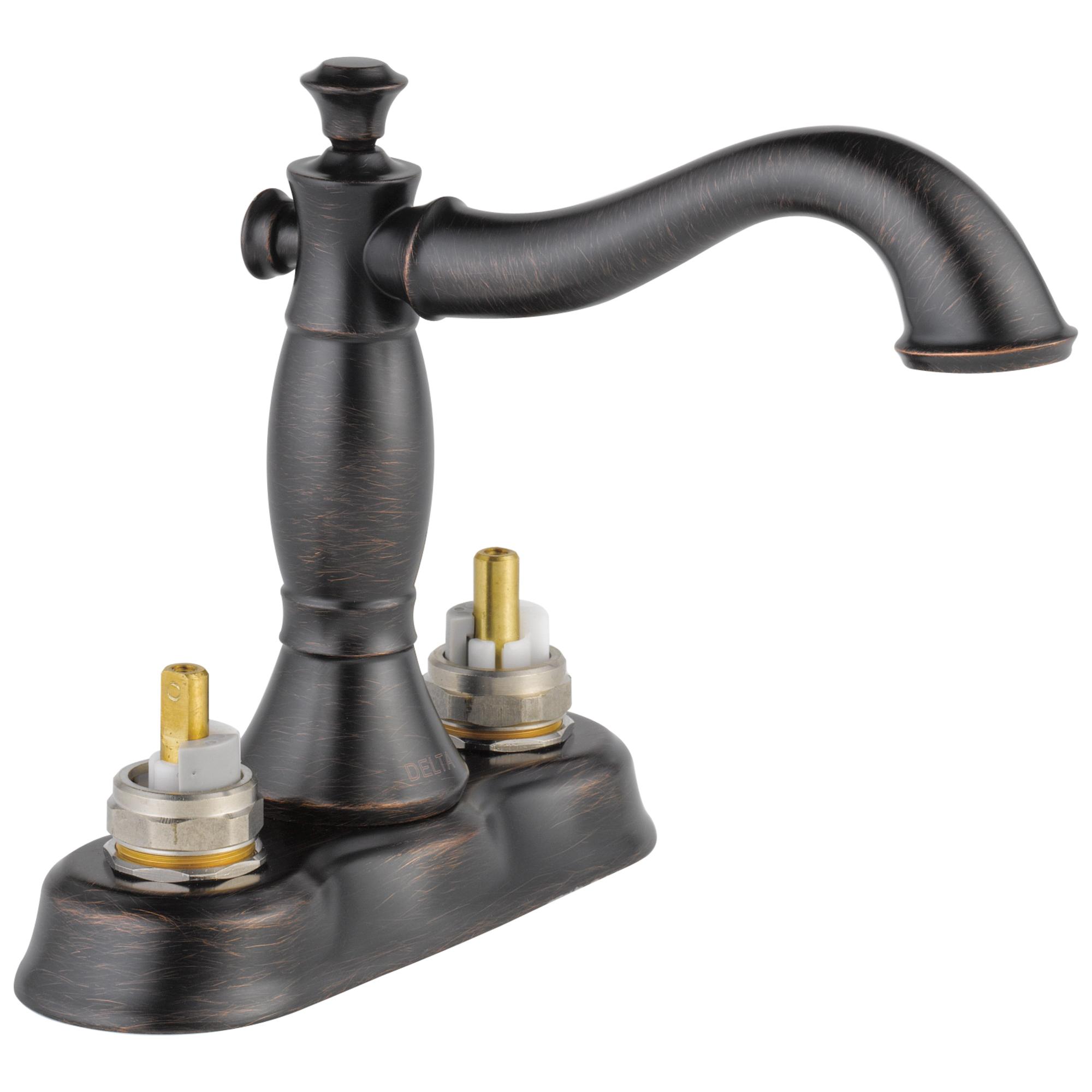 DELTA® 2597LF-RBMPU-LHP Centerset Lavatory Faucet, Cassidy™, Venetian Bronze, Pop-Up Drain, 1.2 gpm