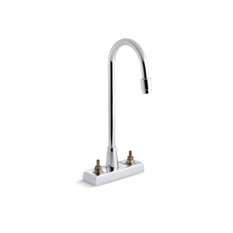Kohler® 7305-K-CP Centerset Bathroom Sink Faucet, Triton™, Polished Chrome, 2 Handles, 1.5 gpm
