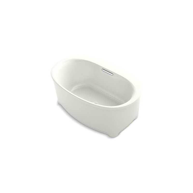 Kohler® 5701-2M-NY Underscore® Bathtub Without Jet, Soaking Hydrotherapy, Oval, 60 in Lx36 in W, Center Drain, Dune, Domestic