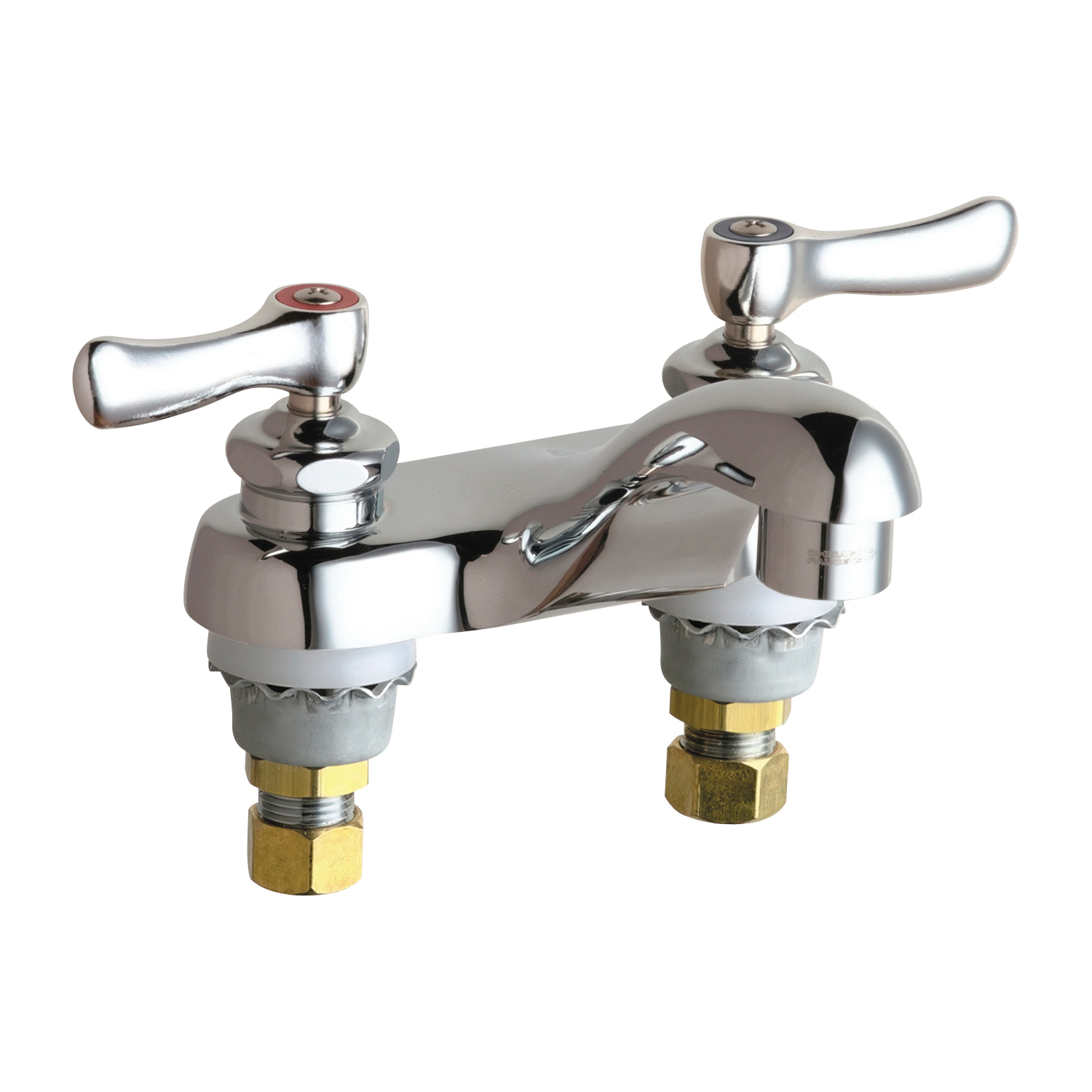 Chicago Faucet® 802-VXKABCP Lavatory Sink Faucet, Chrome Plated, 2 Handles, 2.2 gpm