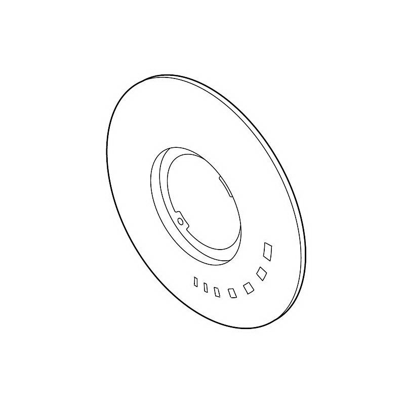 Brizo® RP49346BN RSVP® Tub and Shower Escutcheon, Brushed Nickel, Import