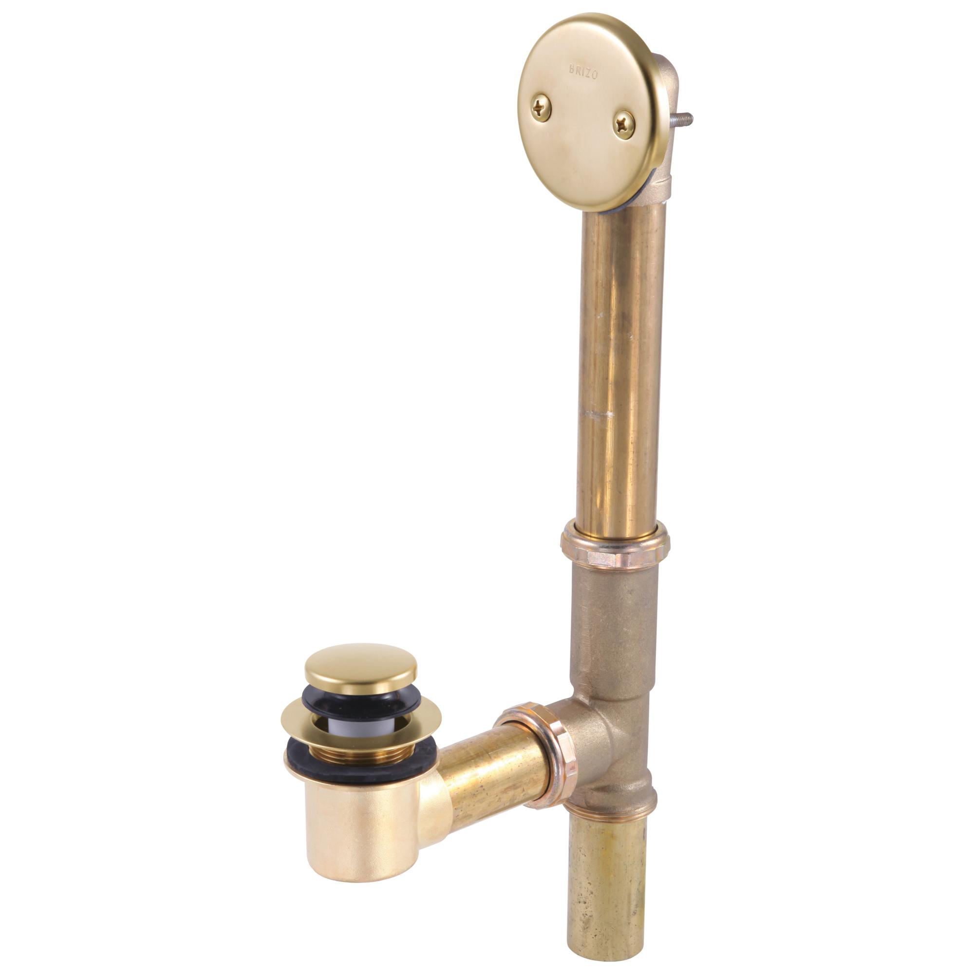 Brizo® RP43140GL Toe Operated Drain, Brass, Luxe Gold, Domestic