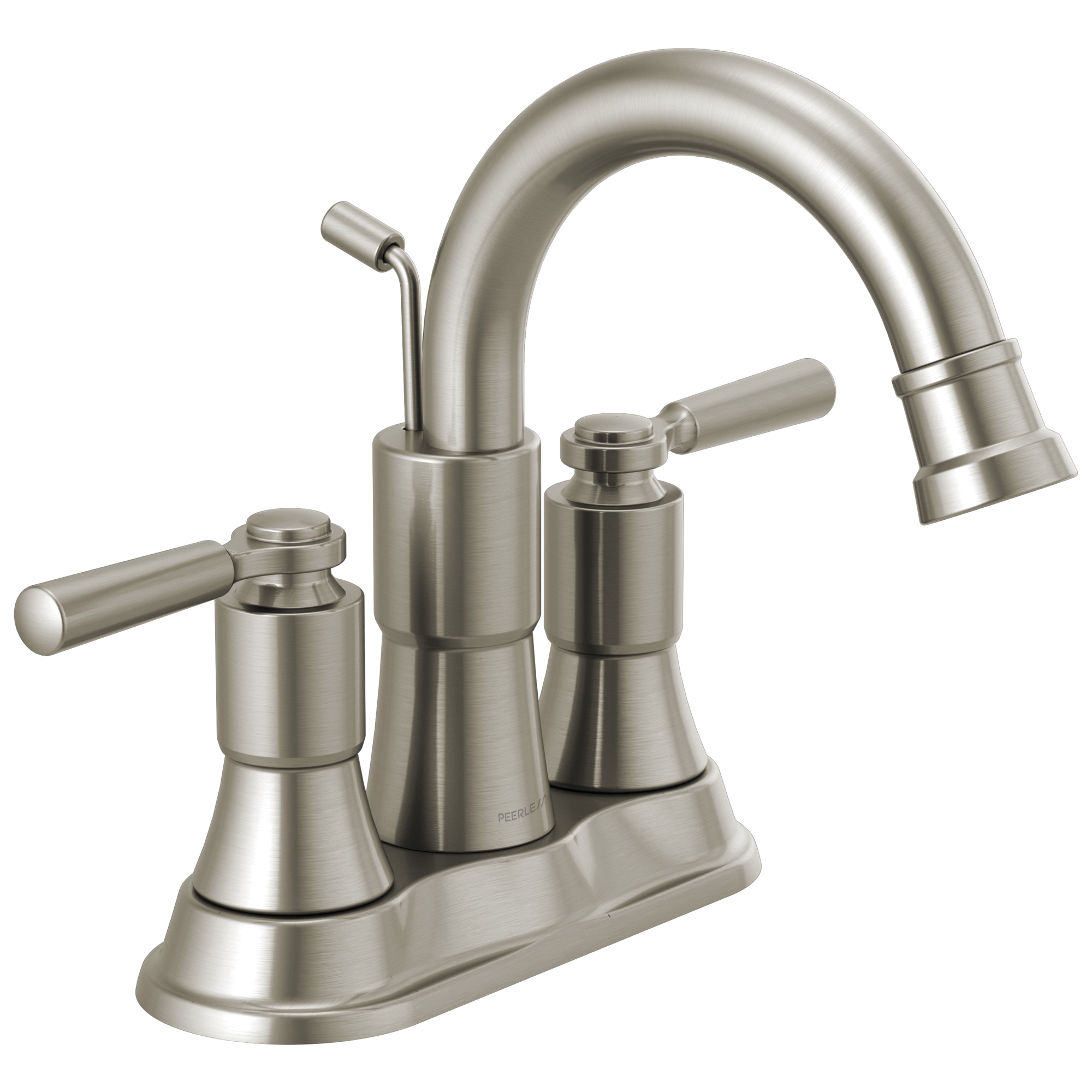 Peerless® P2523LF-BN Centerset Bathroom Faucet, Westchester™, Brushed Nickel, 2 Handles, Pop-Up Drain, 1 gpm