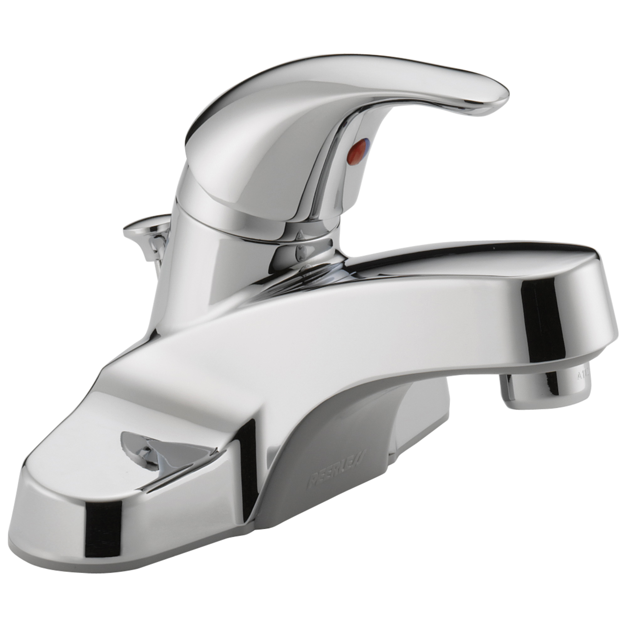 Peerless® P136LF-M Centerset Lavatory Faucet, Chrome Plated, 1 Handles, Metal Pop-Up Drain, 1.2 gpm