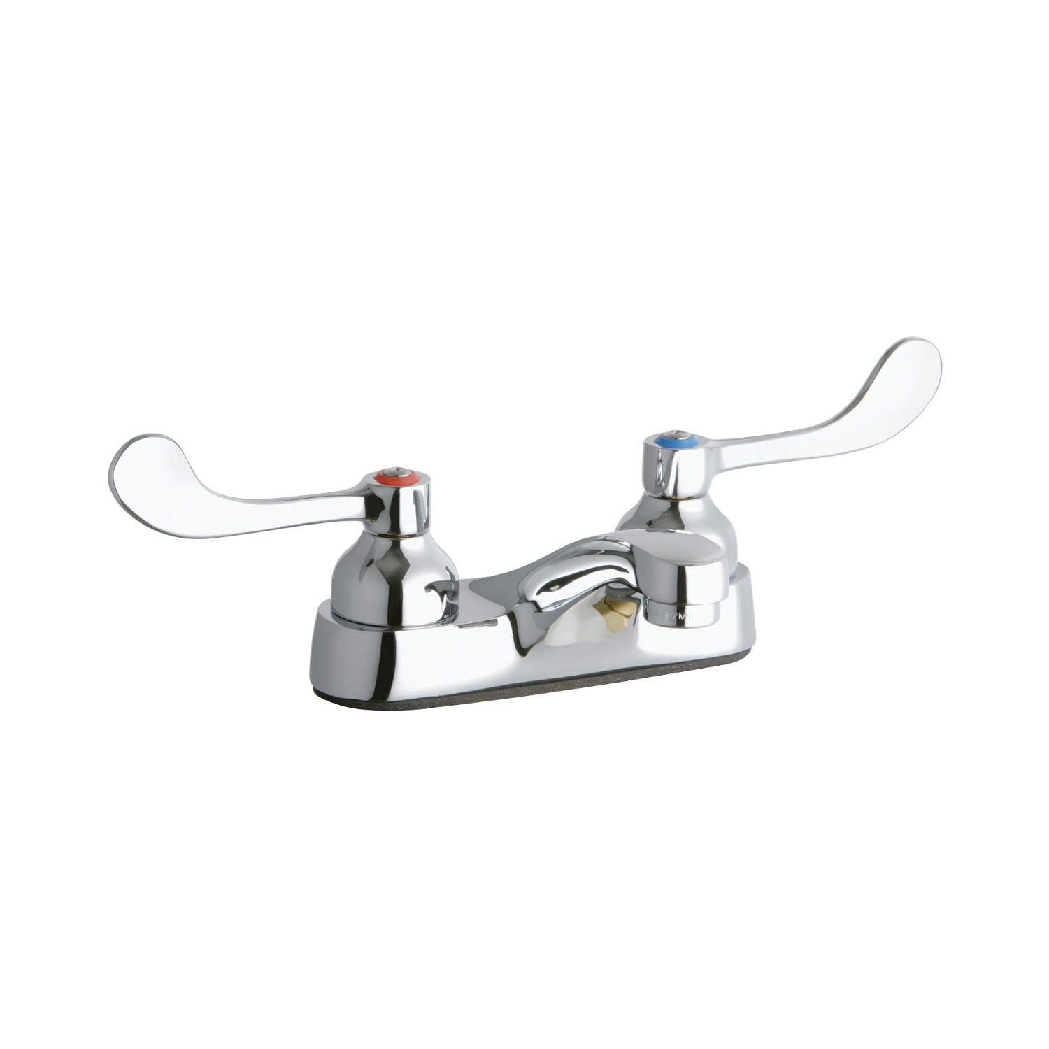 Elkay® LK402T4 Exposed Centerset Bathroom Faucet, Chrome Plated, 2 Handles, 0.5 gpm
