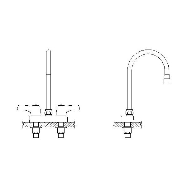 DELTA® 27C4933-LS Heavy Duty Lavatory Sink Faucet, TECK®, Polished Chrome, 2 Handles, 1.5 gpm