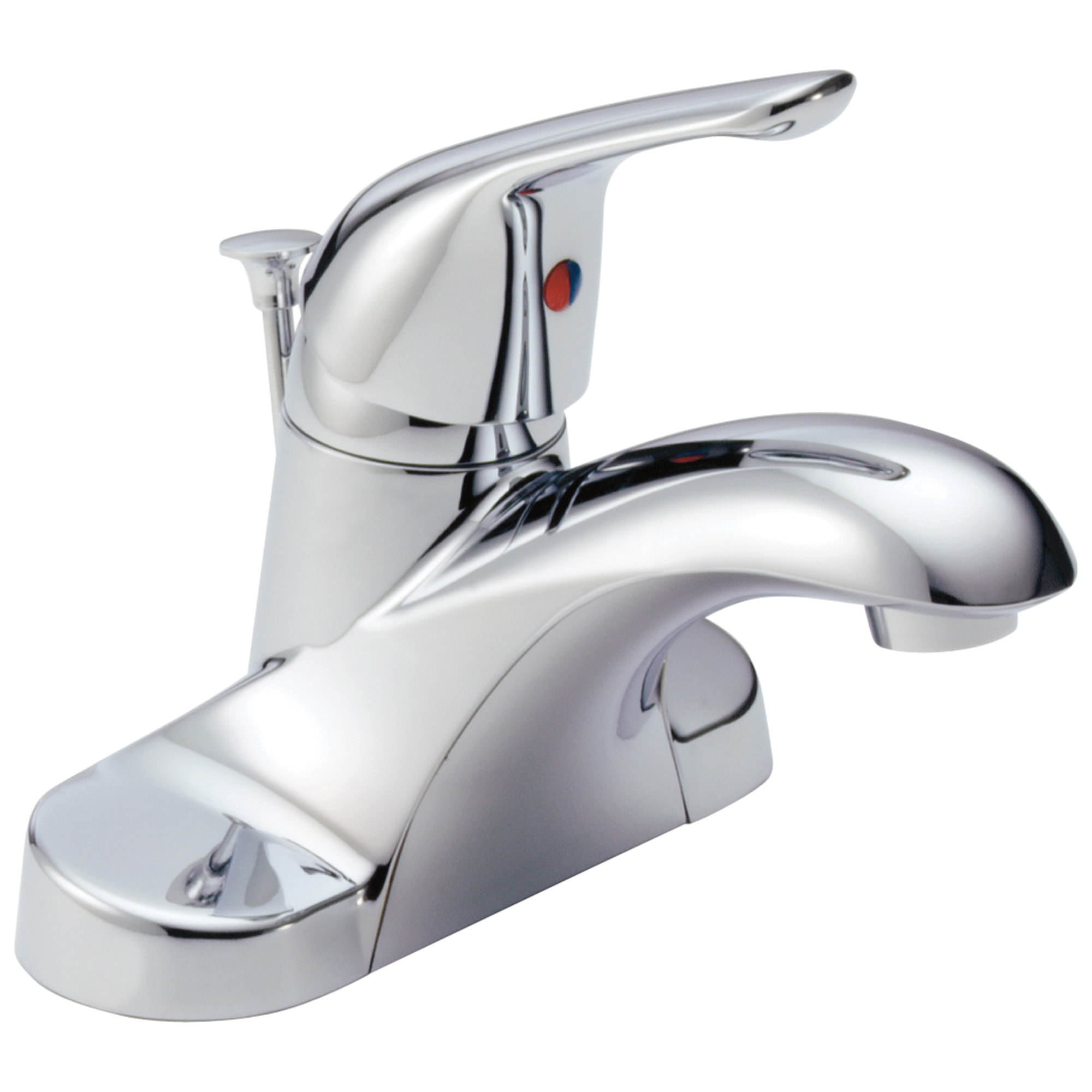 DELTA® B510LF Centerset Lavatory Faucet, Foundations®, Chrome Plated, 1 Handles, Pop-Up Drain, 1.5 gpm