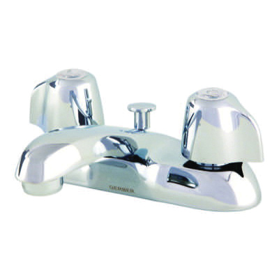 Gerber® Classics™ 43-431 Bathroom Faucet, Chrome Plated, 2 Handles, Brass Pop-Up Drain, 1.5 gpm