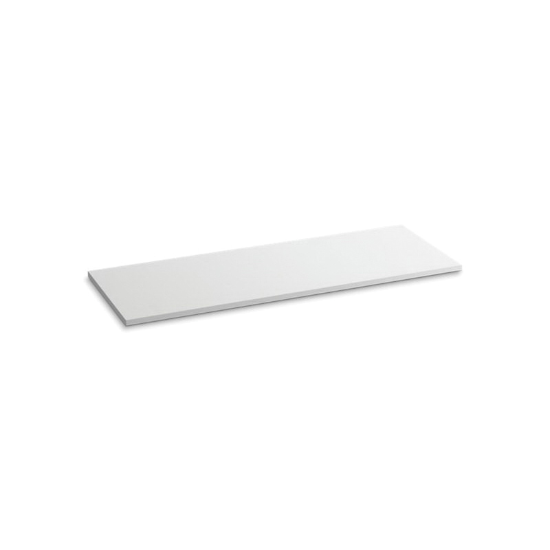 Kohler® 5441-S33 Solid/Expressions™ Vanity Top Without Cutout, 22-3/8 in OAWx22-13/16 in OADx1 in OAH, Stone White Top