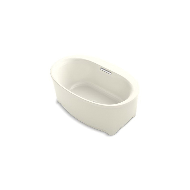 Kohler® 5702-VB-96 Underscore® Bathtub, VibrAcoustic® Hydrotherapy, Oval, 60 in Lx36 in W, Center Drain, Biscuit, Domestic
