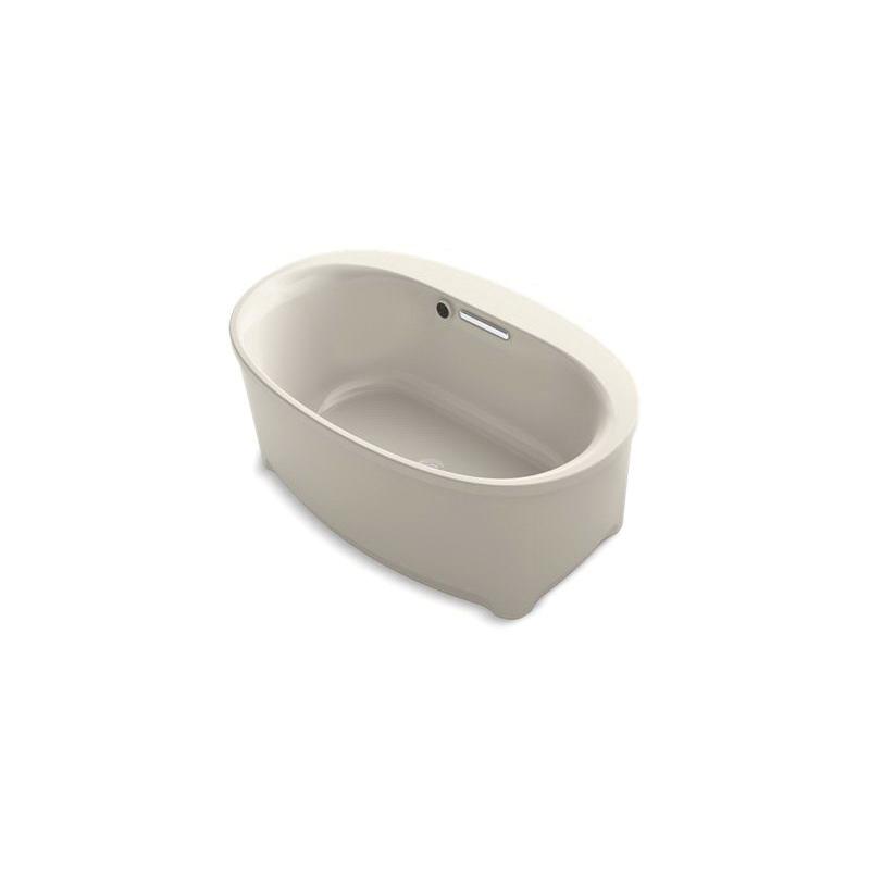 Kohler® 5701-W1-G9 Underscore® Bathtub, Soaking Hydrotherapy, Oval, 60 in Lx36 in W, Center Drain, Sandbar, Domestic